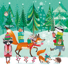 Servet - festive animals - PPD
