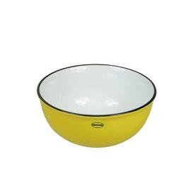 Kom - cereal bowl - emaille look - geel - Cabanaz