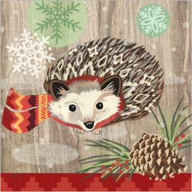 Servet - hedgehog with scarf - PPD