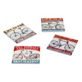 Onderzetters voor glazen - vintage cycles - Balvi