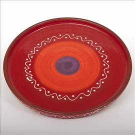 Bord met opstaande rand (rood) - SolO - Bowls and Dishes