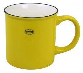 Koffiemok / theemok - emaille look - geel - Cabanaz