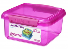 Lunchbox - lunch plus colored pink - Sistema