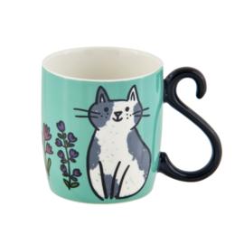 Mok - chats et fleurs - Derriere la porte