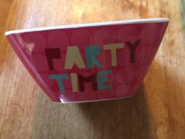 Schaaltje voor zoutjes - party time - Derriere la porte