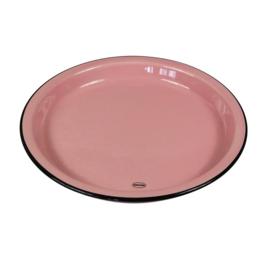 Dinerbord emaille look - roze - Cabanaz