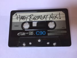 Blikje cassettebandje - happy birthday mix - Meander