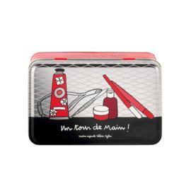 Blik voor handverzorging - boite a manucure - Derriere la porte