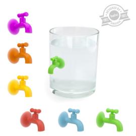 Glasmarkers - kraan / tap (6 stuks) -Balvi