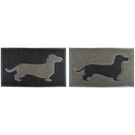 Deurmat teckel - Esschert design (grijs/zwarte teckel)