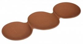 Triple-o snack plate - hapjesschaal bruin - Zuperzozial