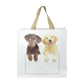 Boodschappentas - twee hondjes - Esschert Design