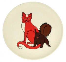 Hungry cat plate - kinderbord - Zuperzozial