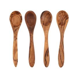 Lepelset (4 stuks) olijfhout - Bowls and Dishes