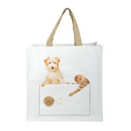 Boodschappentas - hond en kat - Esschert Design