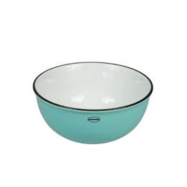 Kom - cereal bowl - emaille look - blauw - Cabanaz