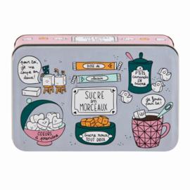Suikerblik - boite a sucre en morceaux - Derriere la porte