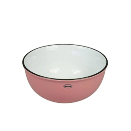 Kom - cereal bowl - emaille look - roze - Cabanaz