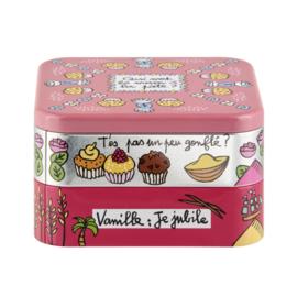 Blik voor suiker(waren) en bakwaren - boite a sucre vanillé - Derrière la porte