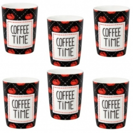 Koffie mokje - coffee time - Derriere la porte