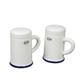 Zout en peper set - salt & pepper shaker - wit - Cabanaz