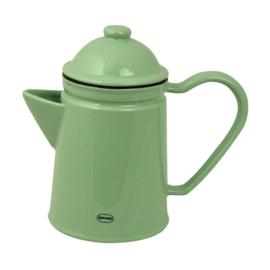 Koffiepot / theepot emaille look - groen - Cabanaz
