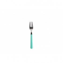Gebaksvork / dessertvork turquoise - brio - Eme Inox Italy