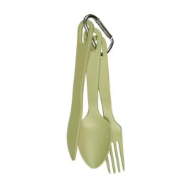 Bestekset - take 3 cutlery set - lichtgroen - Zuperzozial