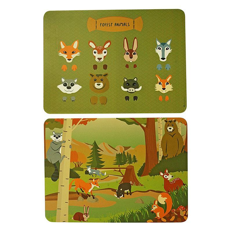 Placemats (set van 2 stuks) - bosdieren - The Zoo