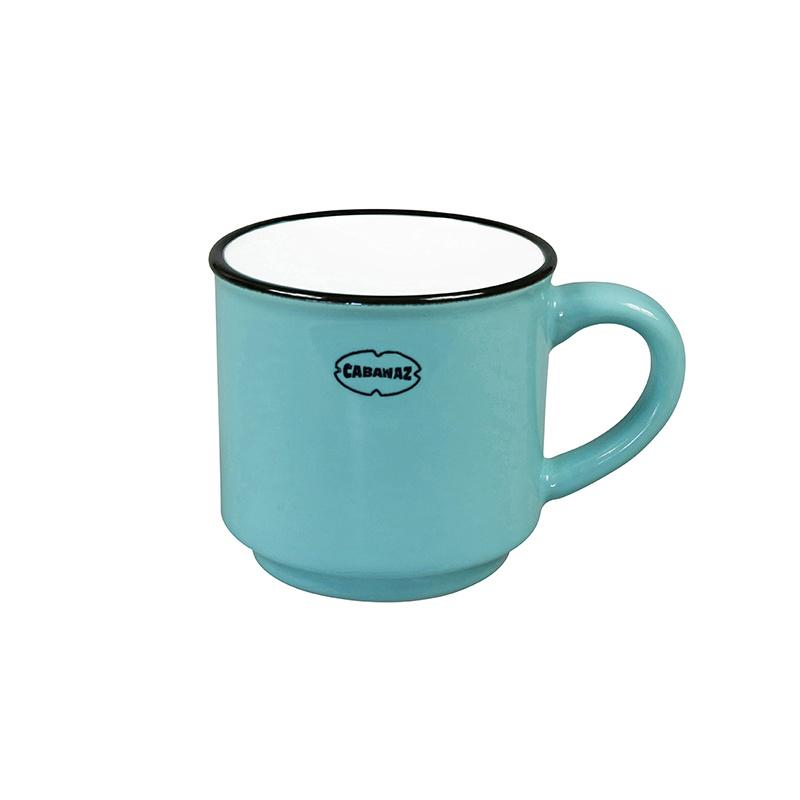 Espressomok emaille look - blauw - Cabanaz