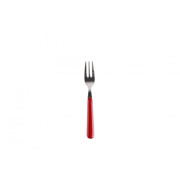 Gebaksvork / dessertvork rood - brio - Eme Inox Italy