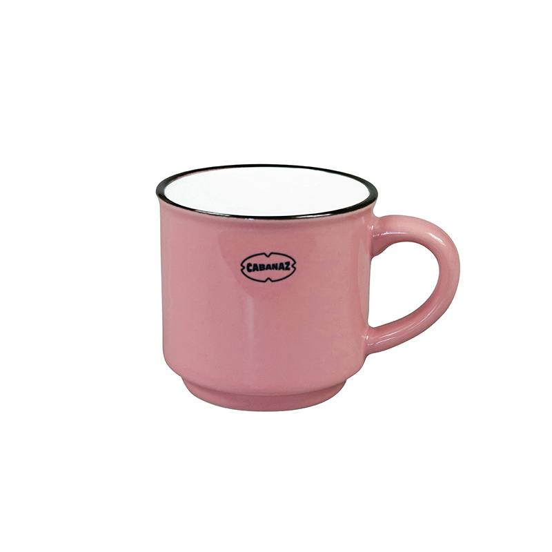 Espressomok emaille look - roze - Cabanaz