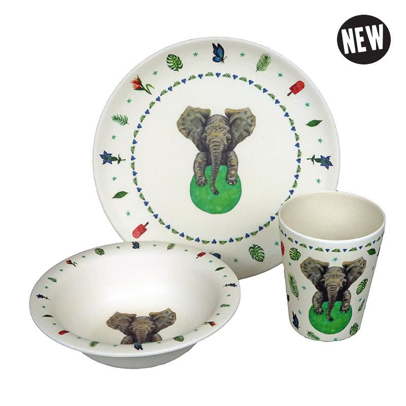 Hungry elephant - kinderservies olifant - Zuperzozial