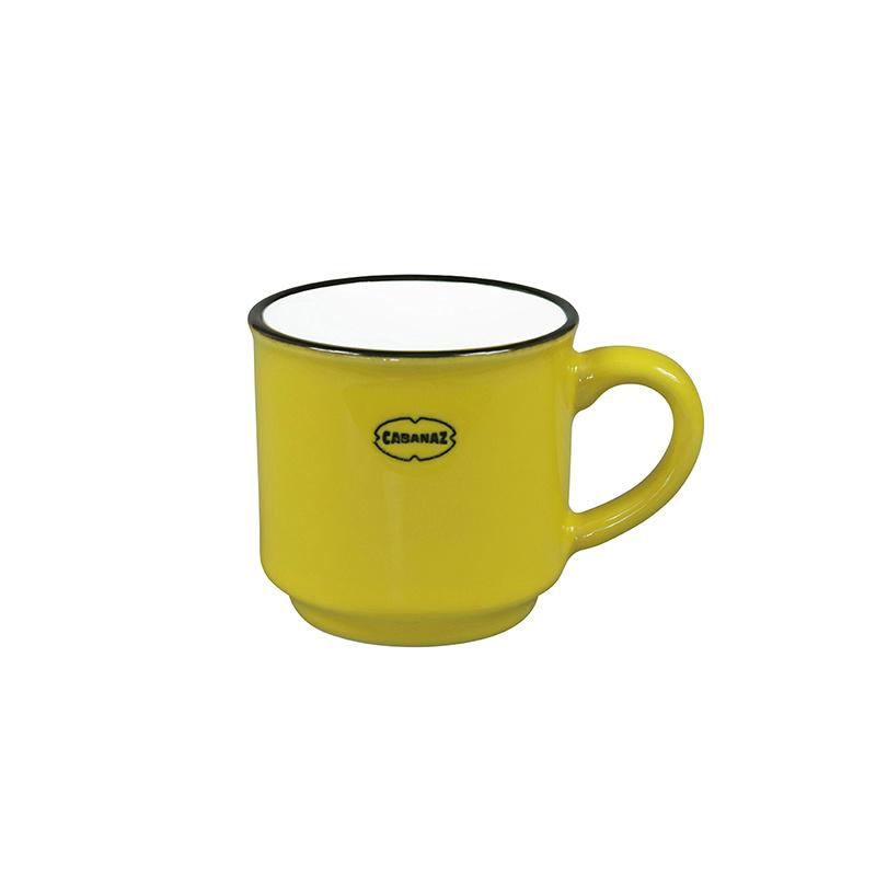 Espressomok emaille look - geel - Cabanaz