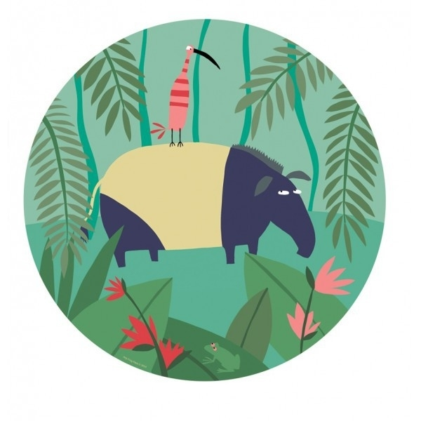 Bord - Jungle (oerwoud) - tapir - Arty Frog Paris
