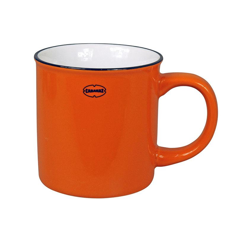 Mok (koffie/thee) emaille look - oranje - Cabanaz