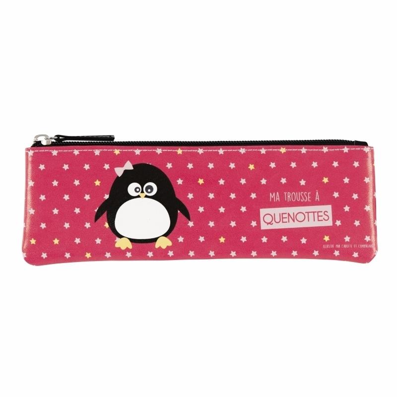Etui  - trousse a tout - pinguin - Derriere la porte