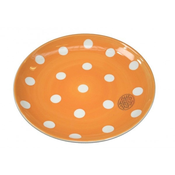 Gebaksbord - stip oranje - Kitchen Trend Products