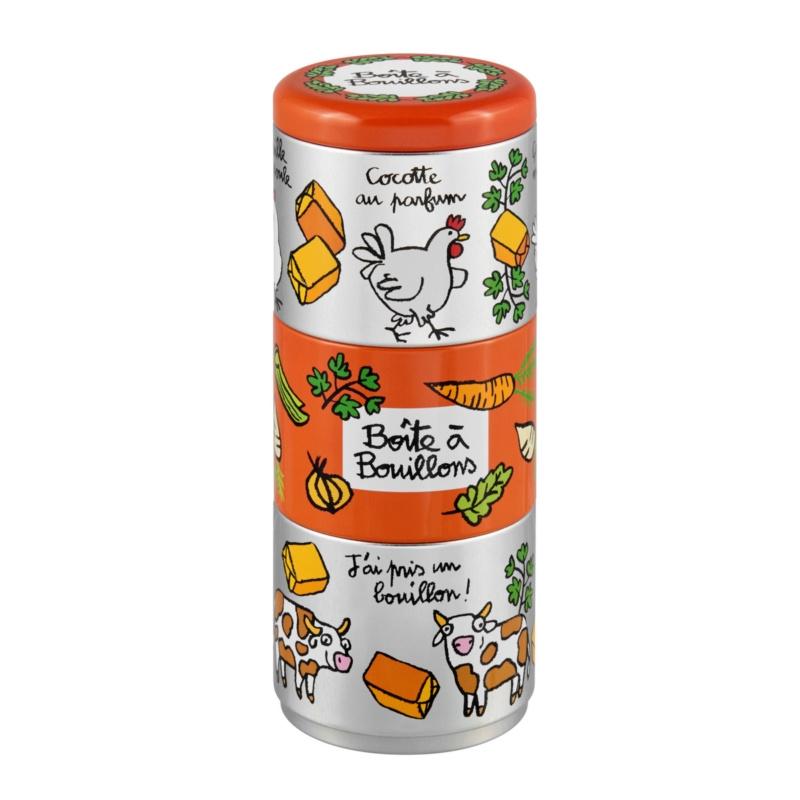 Blik voor bouillon - boite a bouillons au parfum - Derriere la porte