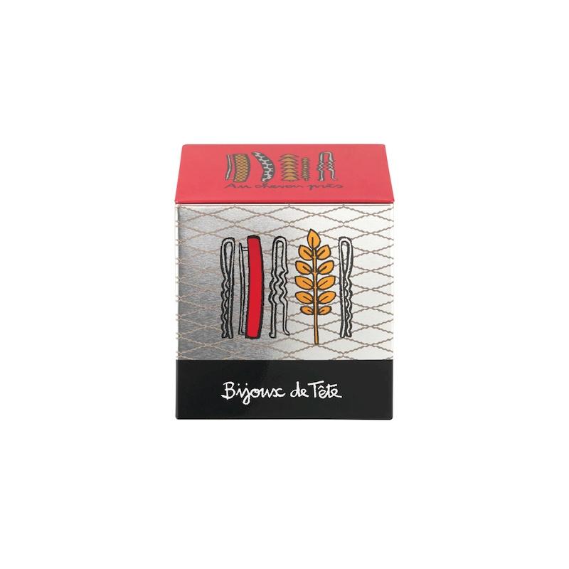 Blik voor haaraccessoires - boite a barrettes - Derriere la porte