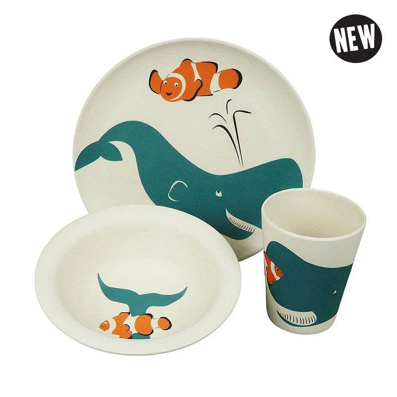 Hungry whale - kinderservies - Zuperzozial