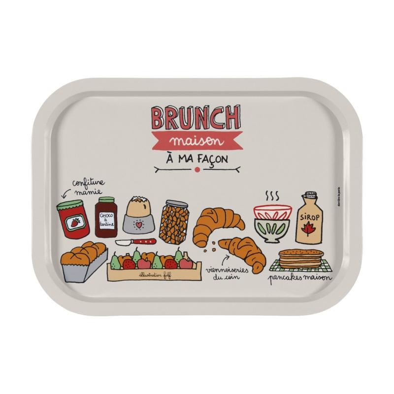 Dienblad - brunch - Derriere la porte