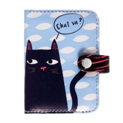 Porte-cartes - chat va? - Derriere la porte
