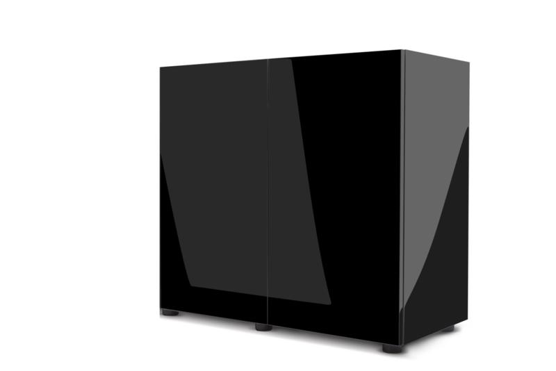 Meubel Glossy 80 zwart ST - 121508