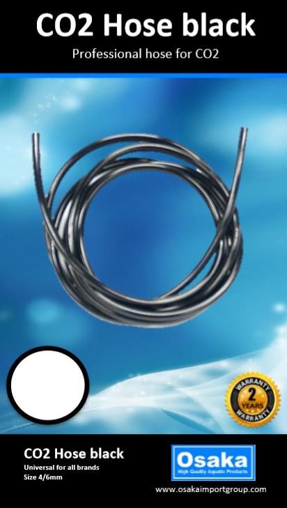 Osaka CO2 slang zwart 5 meter - OSCO2-SL5Z