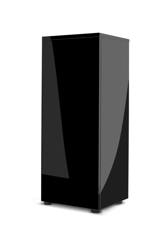 Meubel Glossy cube zwart - 114848