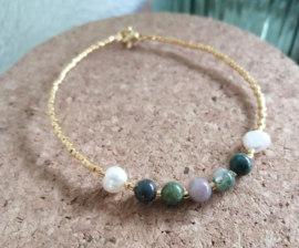 Indian Agate and Gold