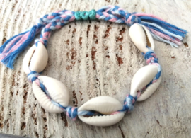 Cowrie Pink Blue Cotton