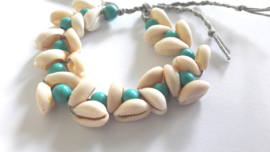 Turquoise and Cowry