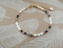 Tourmaline and Pearls